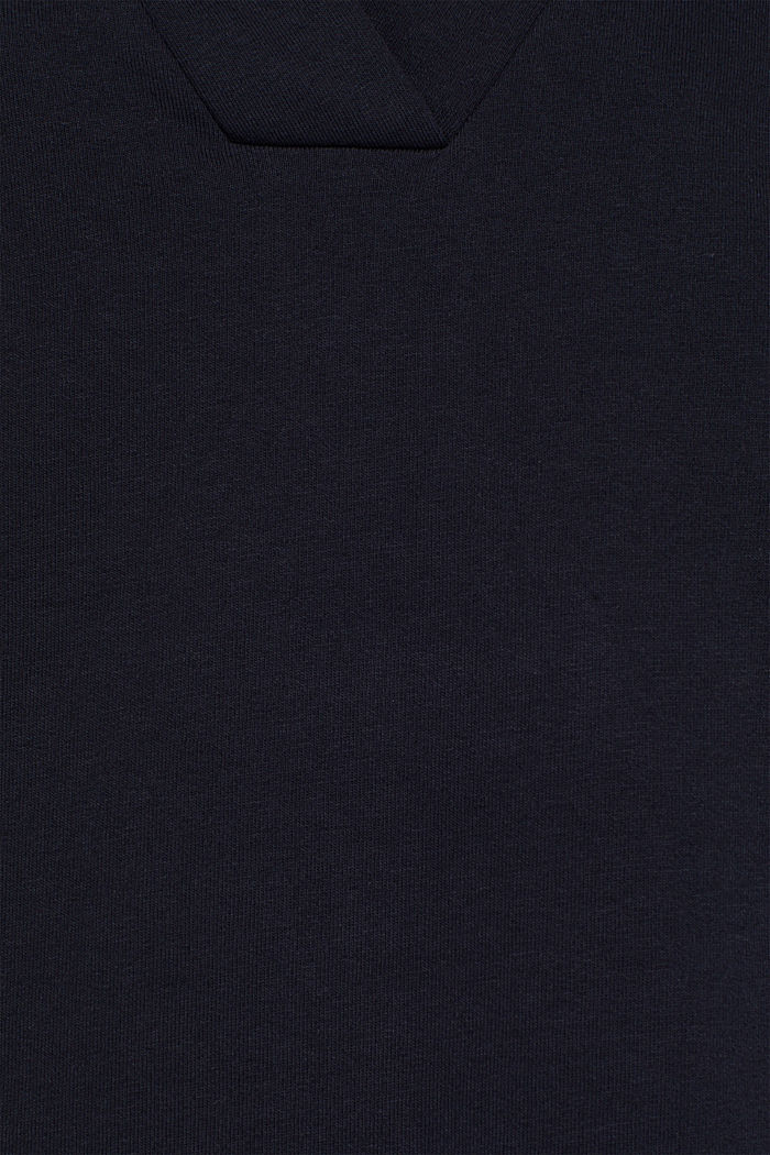 Sweatshirt-Kleid mit V-Ausschnitt, NAVY, detail image number 4