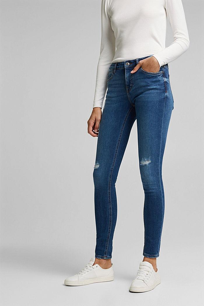 Stretch-Jeans aus Organic Cotton, BLUE MEDIUM WASHED, detail image number 0