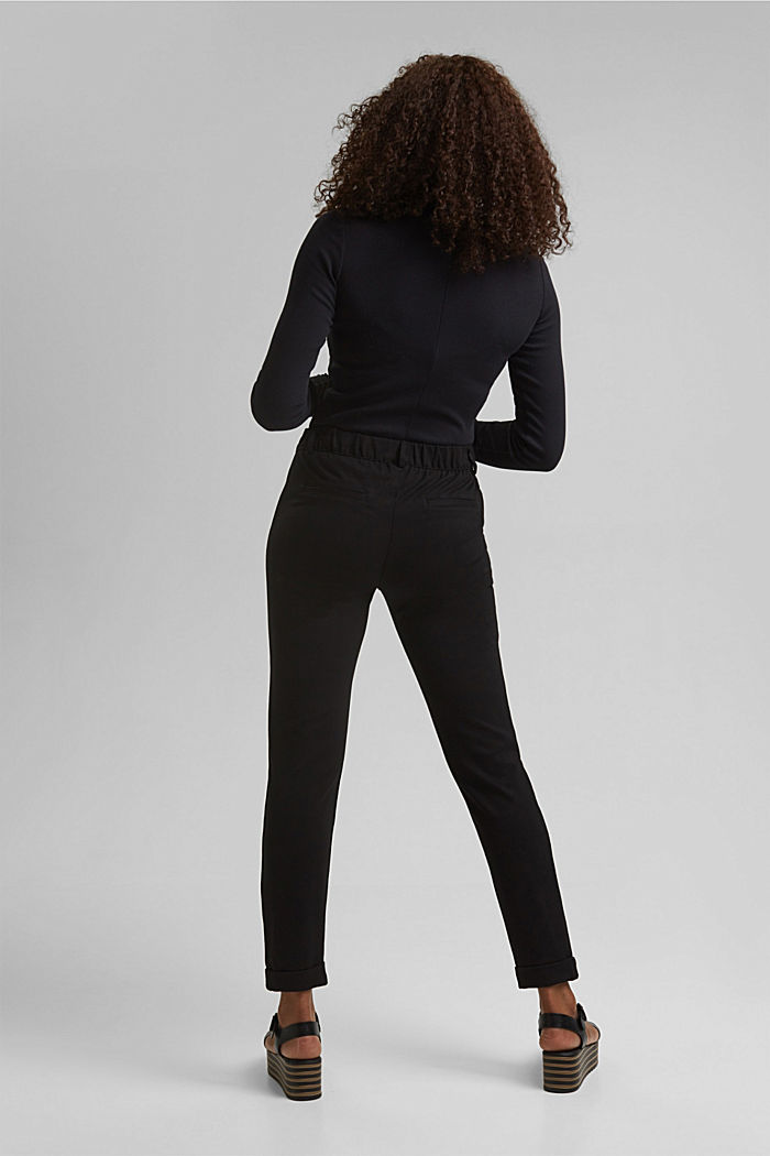 Tracksuit bottoms made of punto jersey, BLACK, detail image number 3