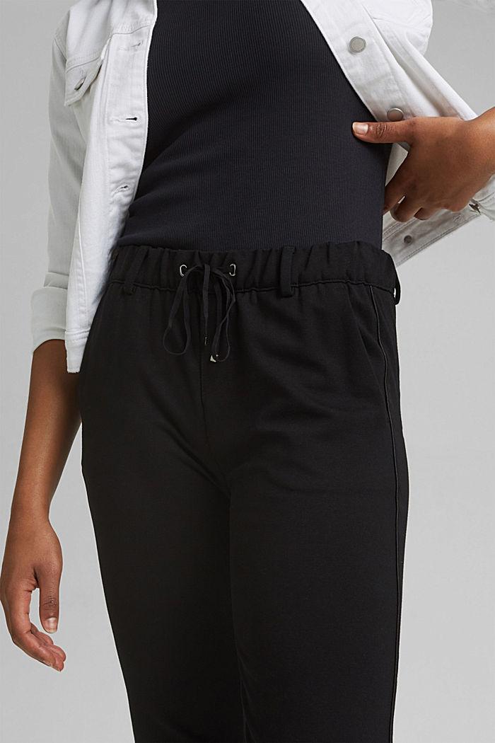 Tracksuit bottoms made of punto jersey, BLACK, detail image number 2