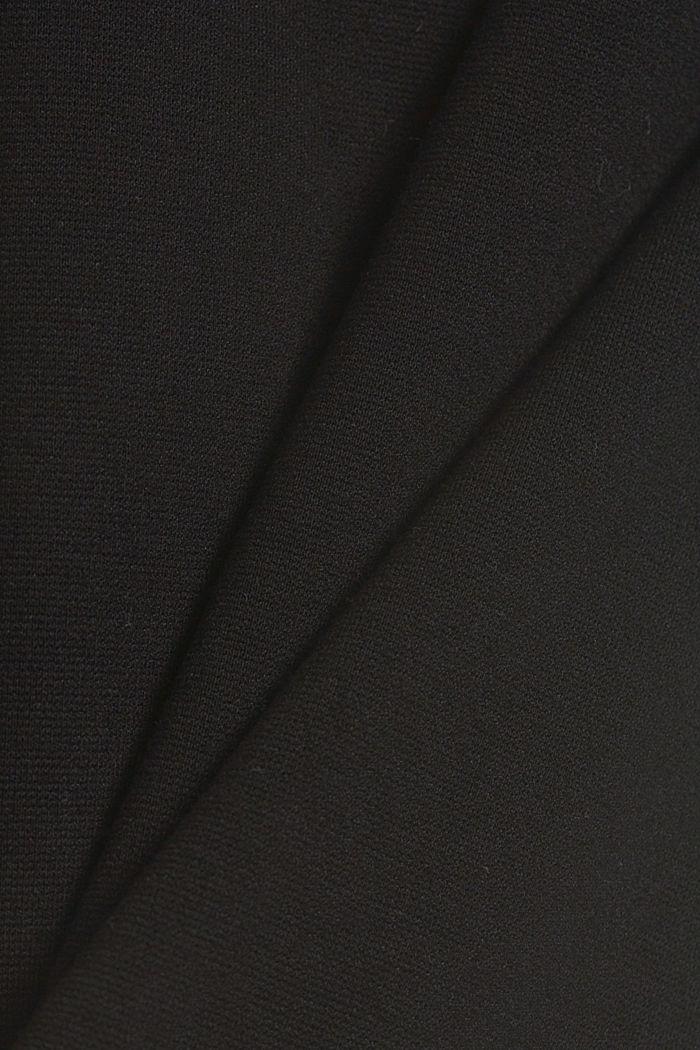 Tracksuit bottoms made of punto jersey, BLACK, detail image number 4