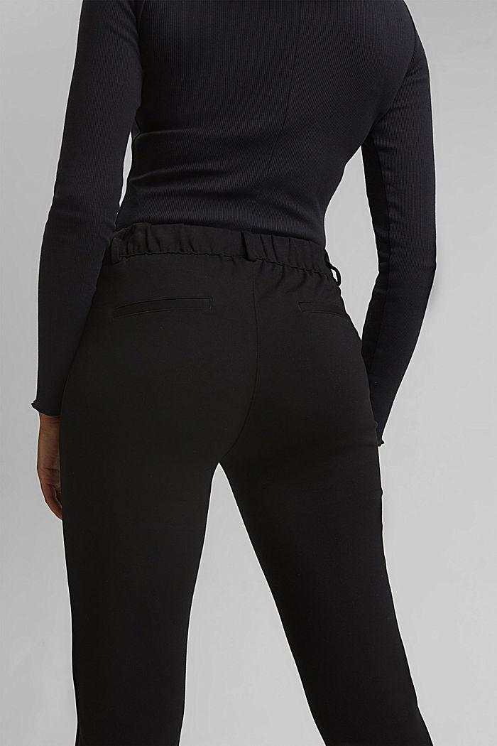 Tracksuit bottoms made of punto jersey, BLACK, detail image number 5