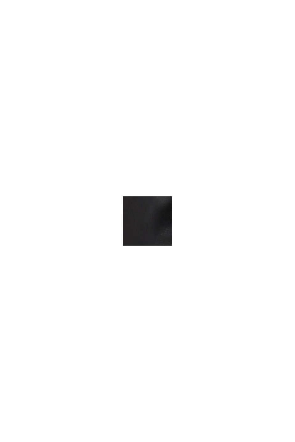 Cropped broek van imitatieleer, BLACK, swatch