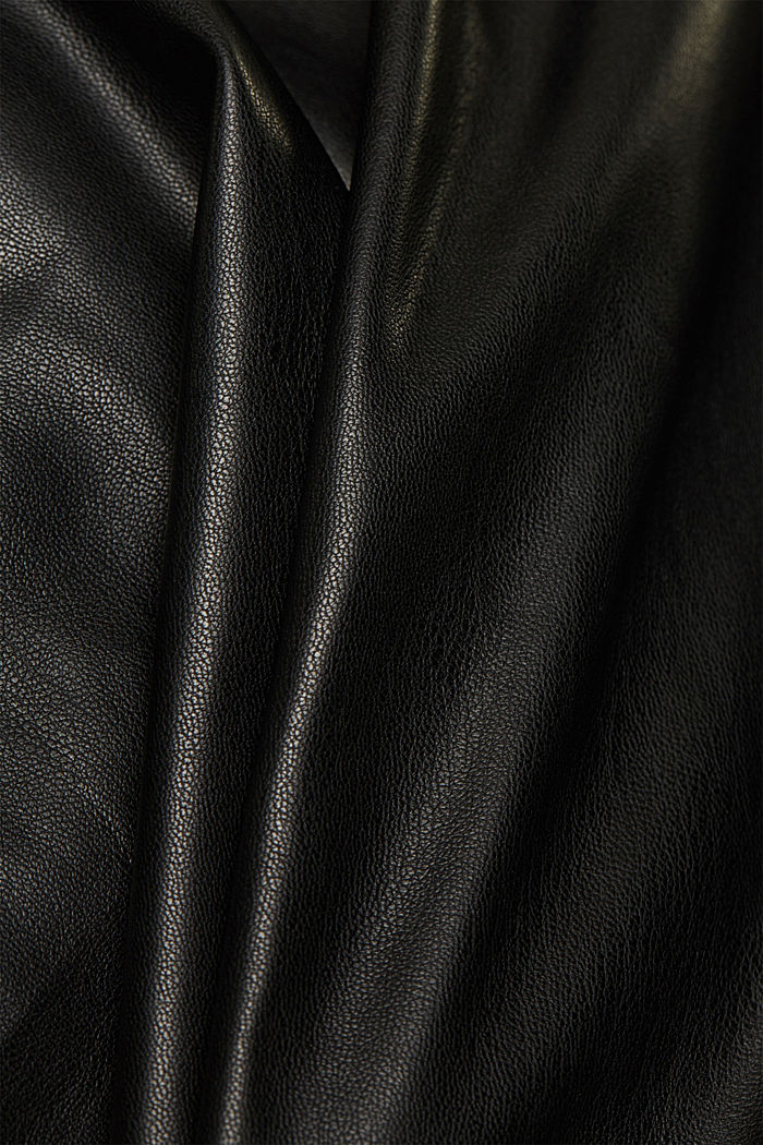 Faux leather skirt, BLACK, detail image number 4