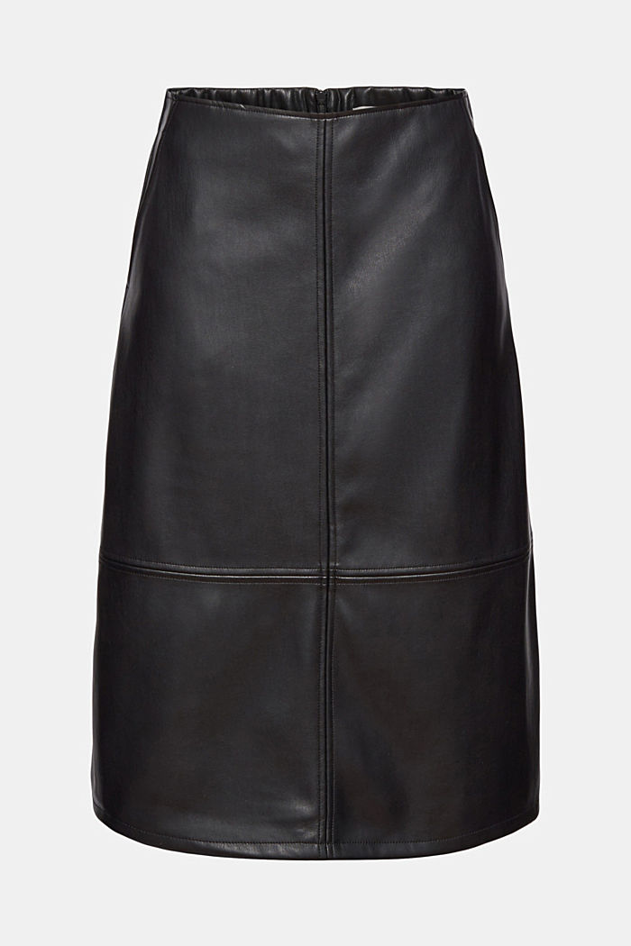 Faux leather skirt, BLACK, detail image number 6