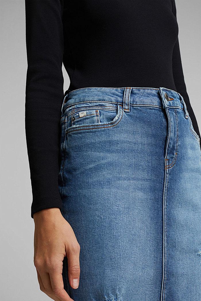 Jeans-Rock mit Organic Cotton, BLUE MEDIUM WASHED, detail image number 2