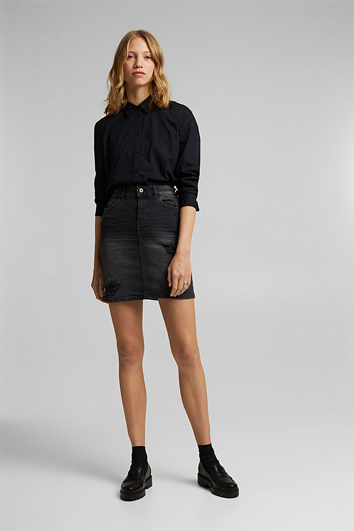 Denim skirt with organic cotton