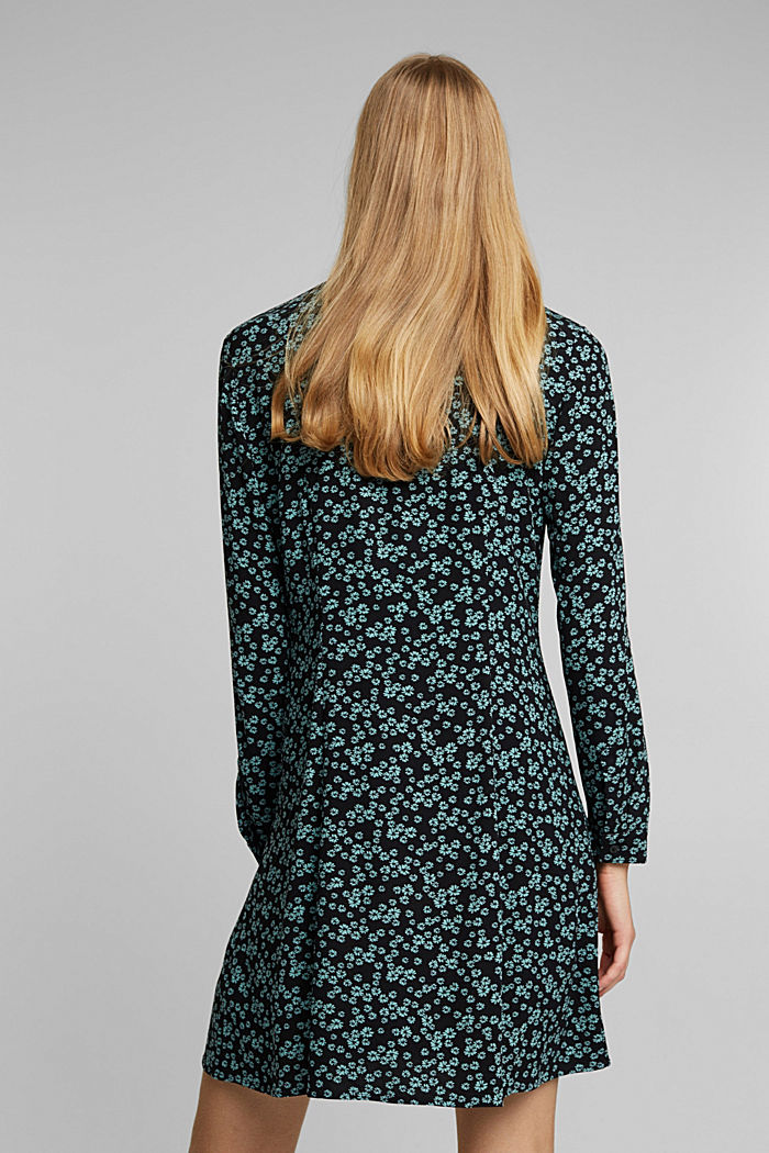 Shirt dress with a floral print, NEW BLACK, detail image number 2