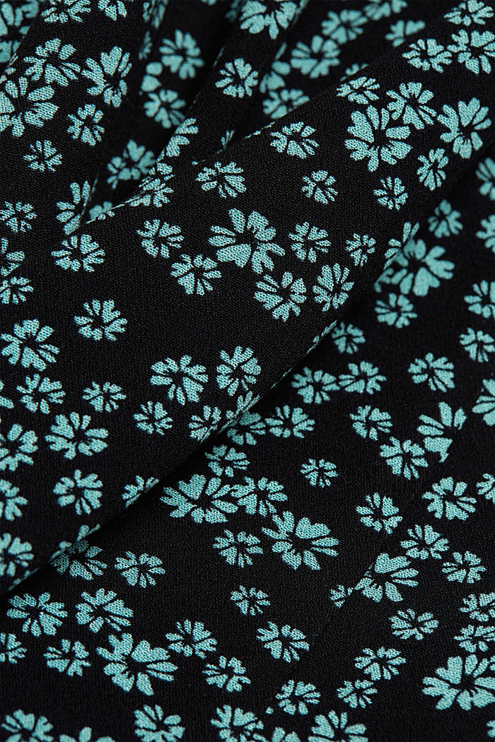 Shirt dress with a floral print, NEW BLACK, detail image number 4