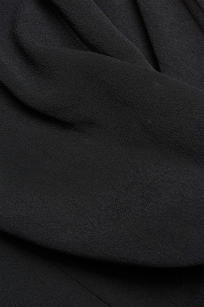 Hemdblusenkleid aus Crêpe, BLACK, detail image number 4