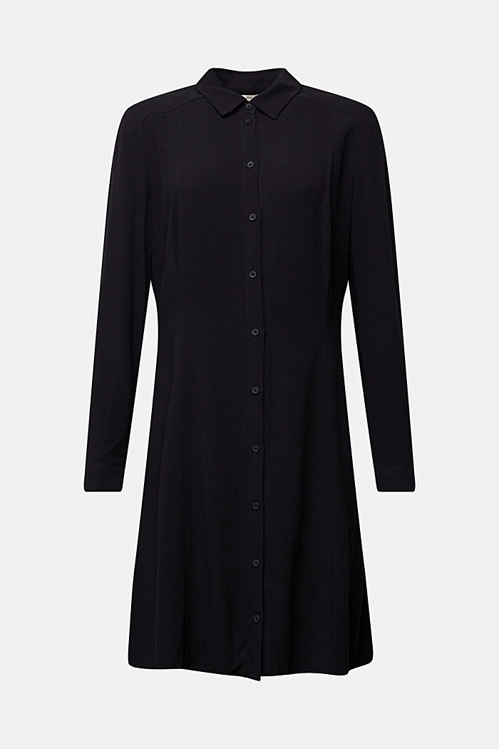 Crêpe shirt dress