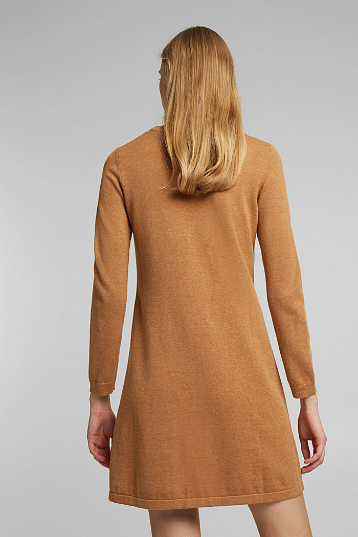 Knitted dress made of 100% organic cotton, CARAMEL, detail image number 2