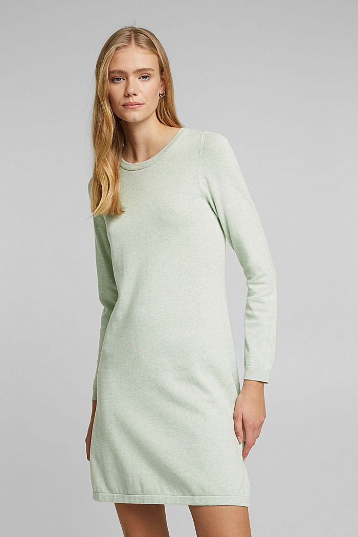 Knitted dress made of 100% organic cotton, DUSTY GREEN, detail image number 0