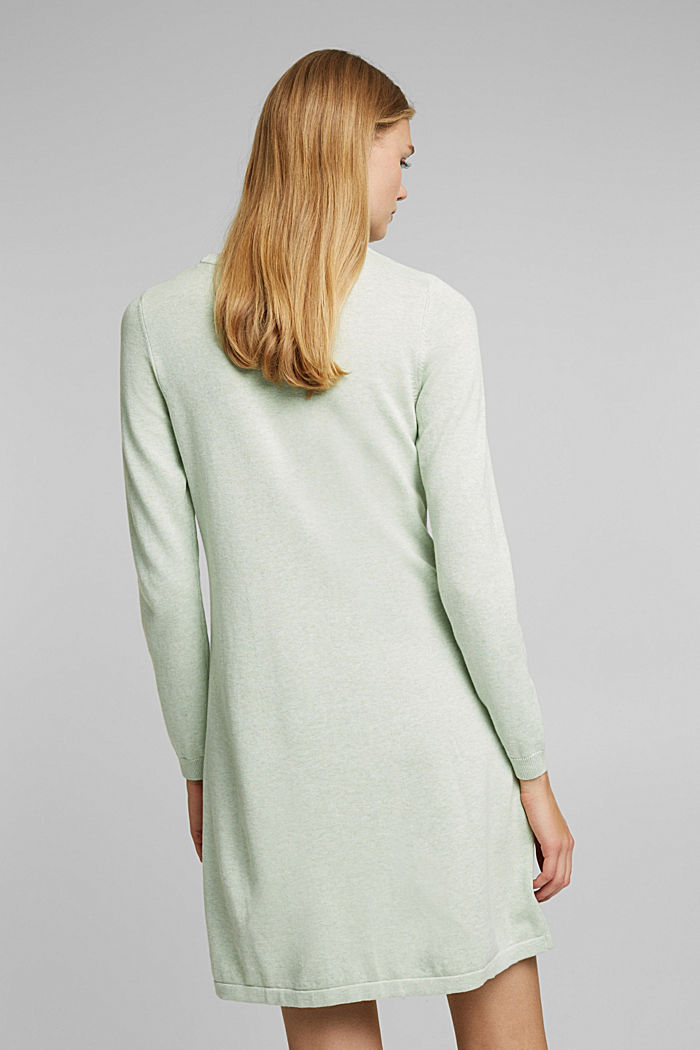 Knitted dress made of 100% organic cotton, DUSTY GREEN, detail image number 2