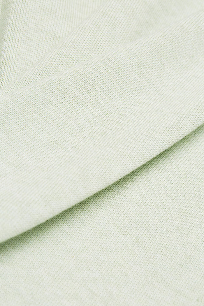 Knitted dress made of 100% organic cotton, DUSTY GREEN, detail image number 4