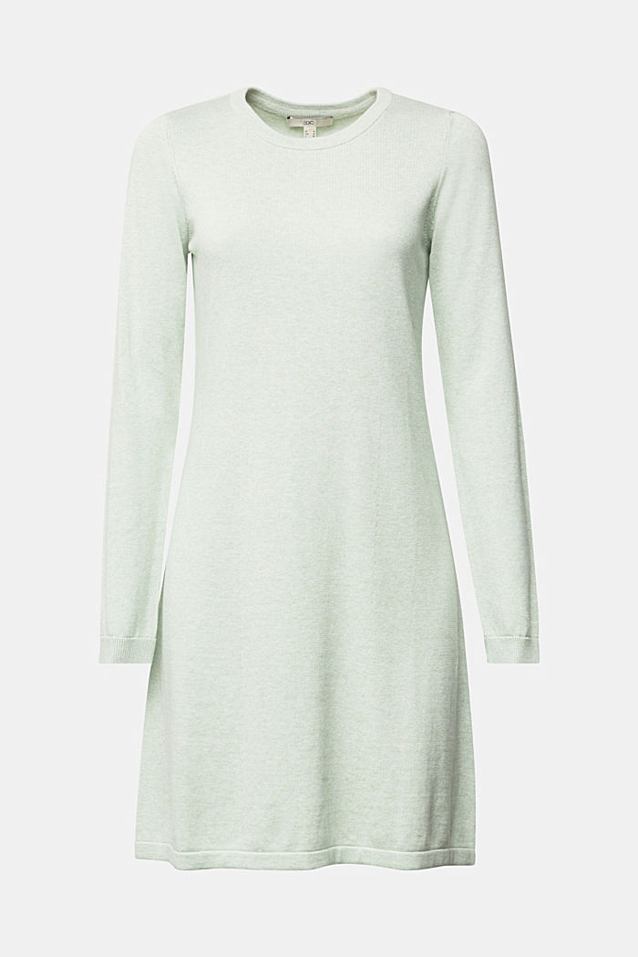 Knitted dress made of 100% organic cotton, DUSTY GREEN, detail image number 5