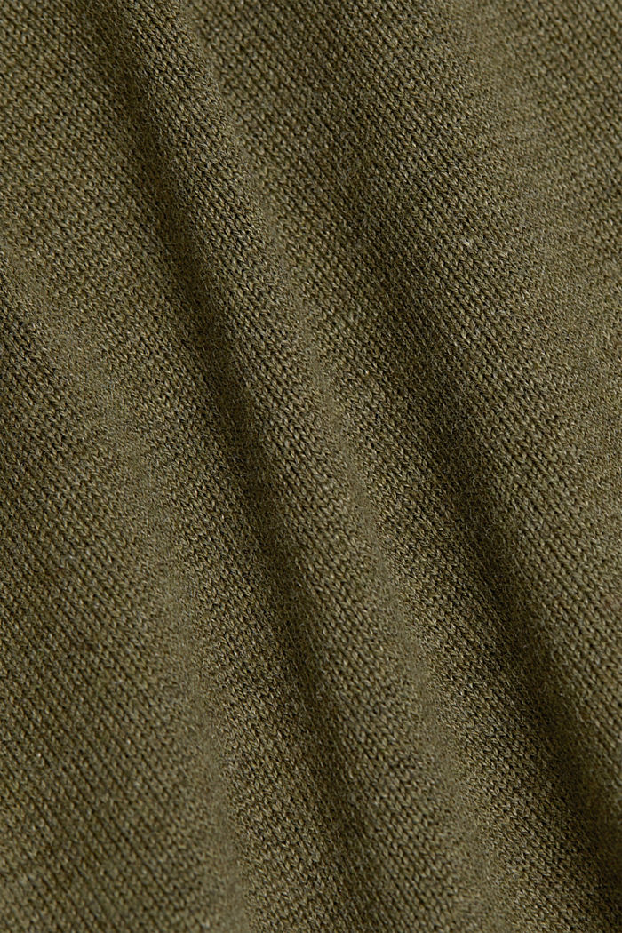 Knitted dress made of 100% organic cotton, KHAKI GREEN, detail image number 5