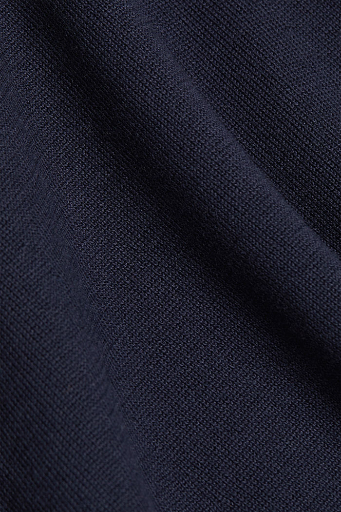 Abito a maglia in 100% cotone biologico, NAVY, detail image number 4