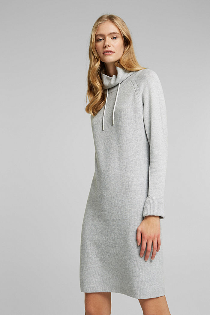 Knitted dress made of 100% organic cotton, LIGHT GREY, detail image number 0