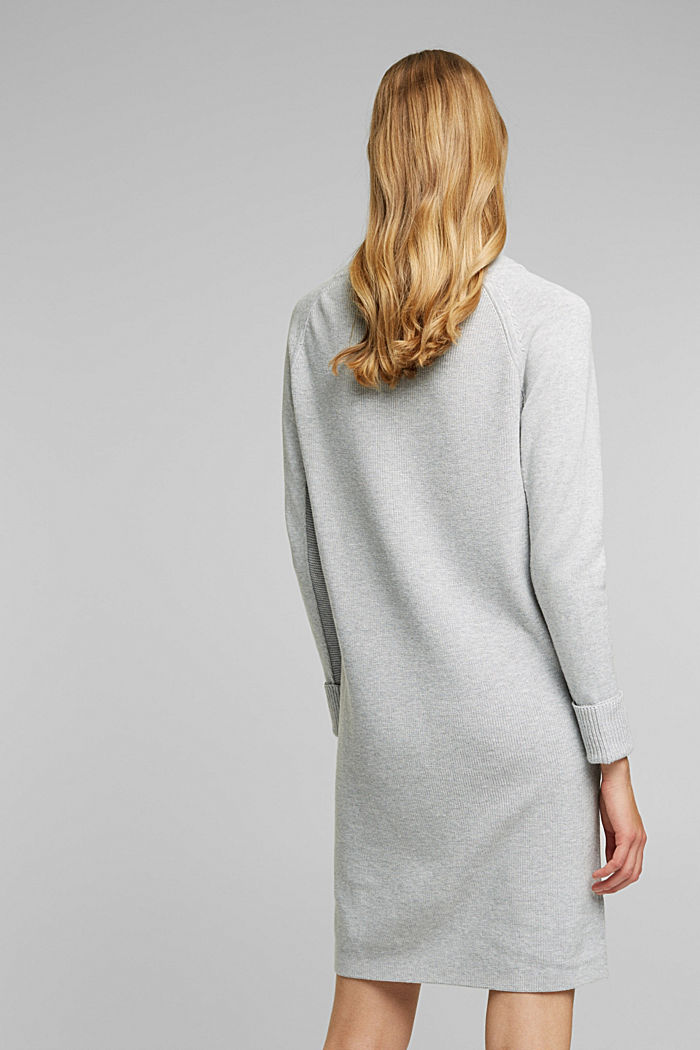 Knitted dress made of 100% organic cotton, LIGHT GREY, detail image number 2