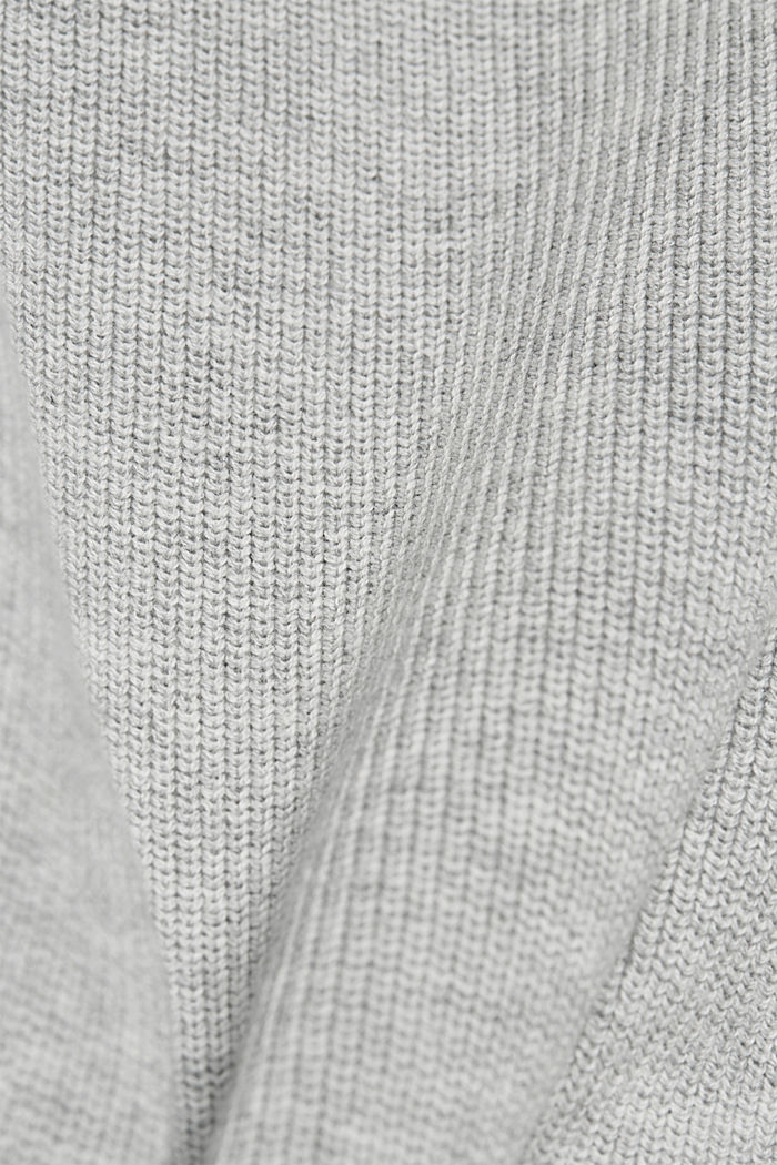 Knitted dress made of 100% organic cotton, LIGHT GREY, detail image number 4