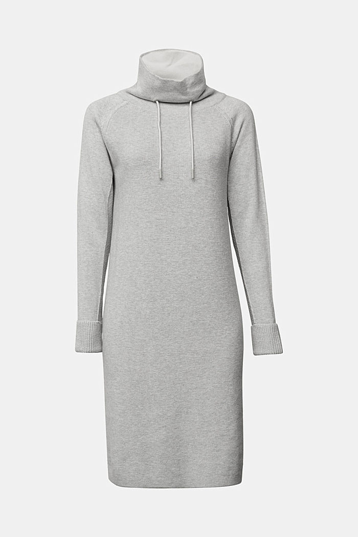 Knitted dress made of 100% organic cotton, LIGHT GREY, detail image number 5