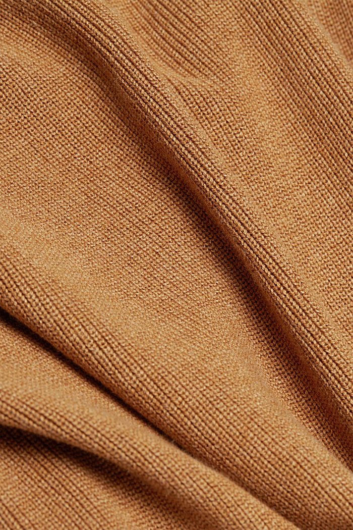 Knitted dress made of 100% organic cotton, CARAMEL, detail image number 4