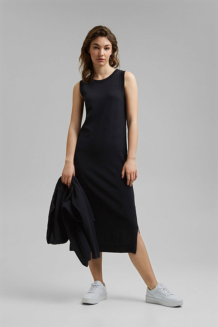 2-in-1: dress with organic cotton, BLACK, detail image number 4