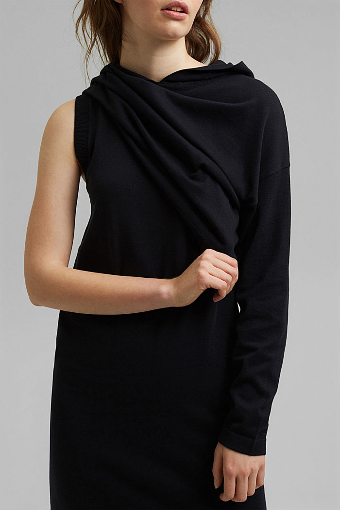 2-in-1: dress with organic cotton, BLACK, detail image number 2