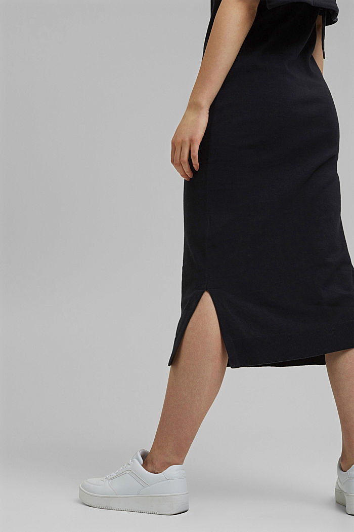 2-in-1: dress with organic cotton, BLACK, detail image number 5