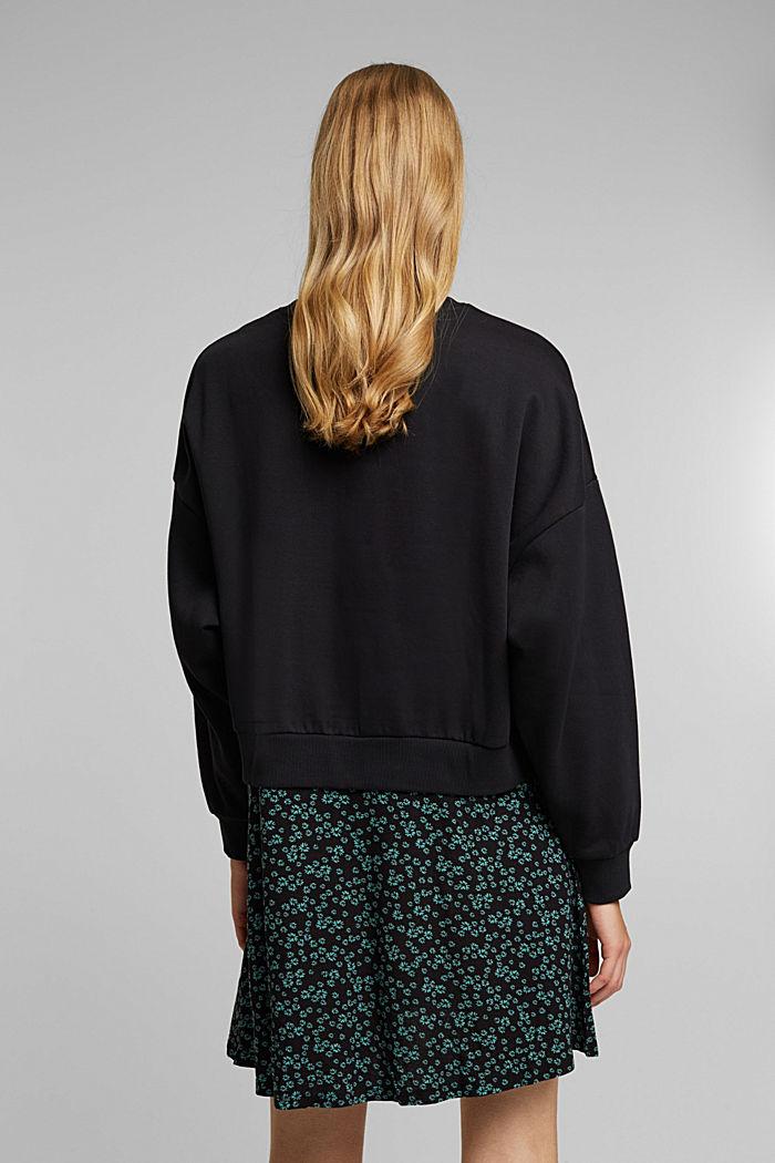 Sweatshirt dress with skirt made of LENZING™ ECOVERO™, BLACK, detail image number 2