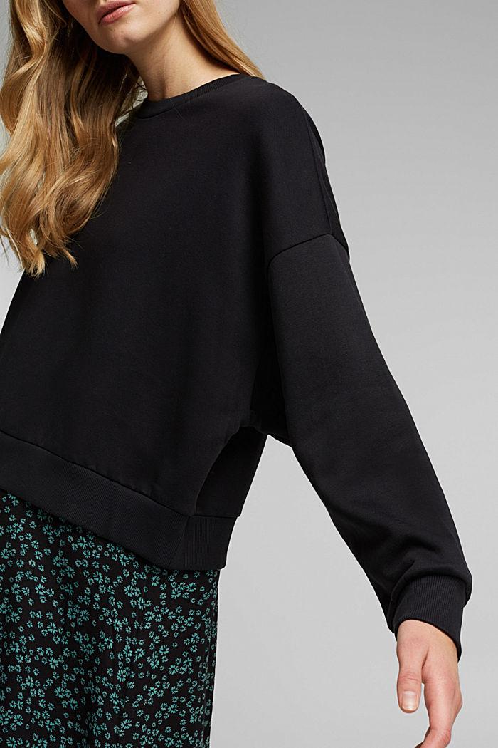 Sweatshirt dress with skirt made of LENZING™ ECOVERO™, BLACK, detail image number 3