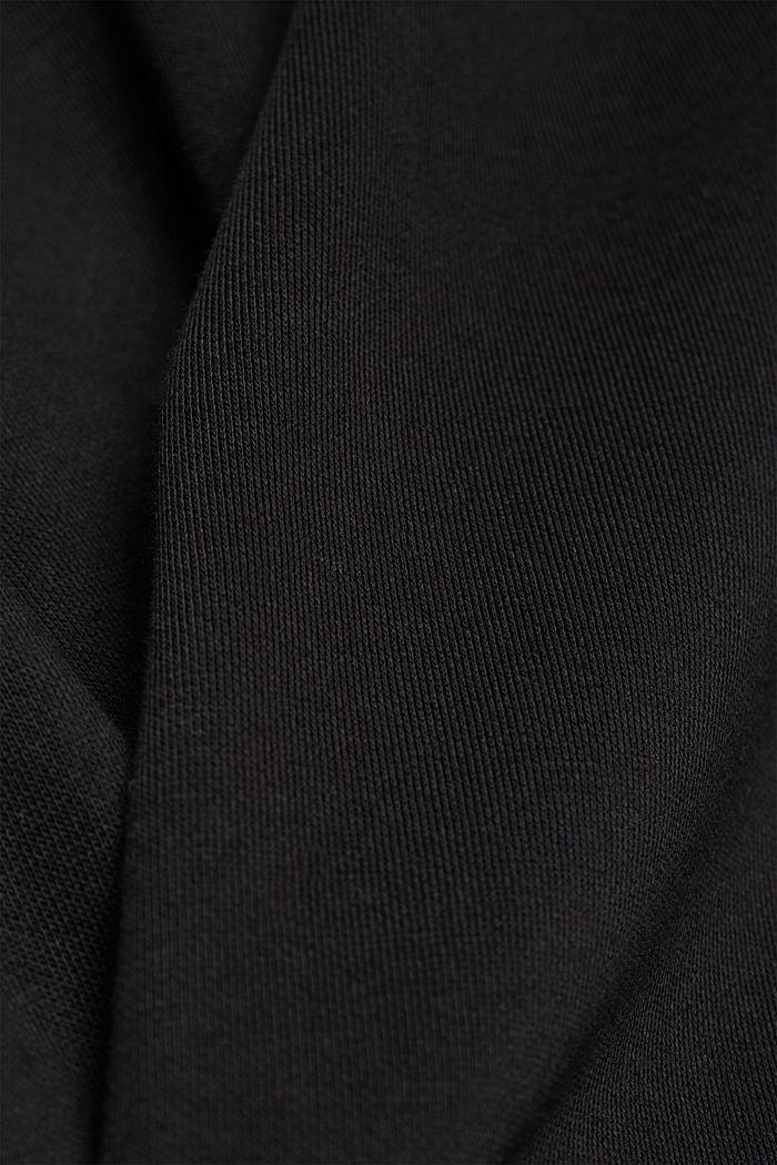 Sweatshirt dress with skirt made of LENZING™ ECOVERO™, BLACK, detail image number 4