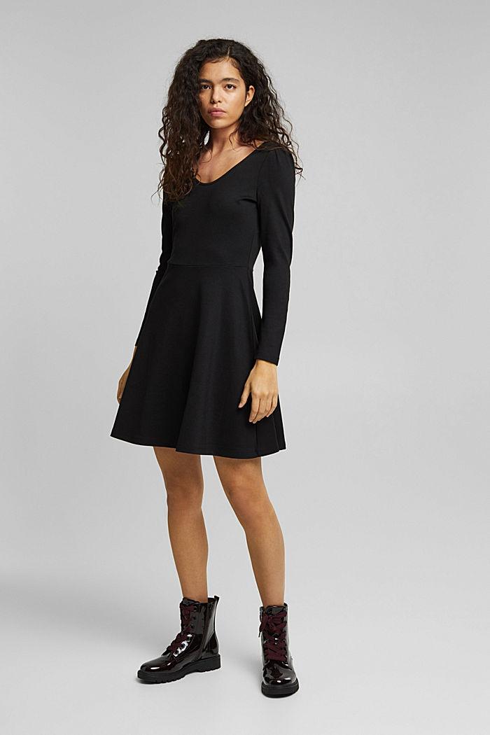 Jersey-Kleid mit  LENZING™ ECOVERO™, BLACK, detail image number 0
