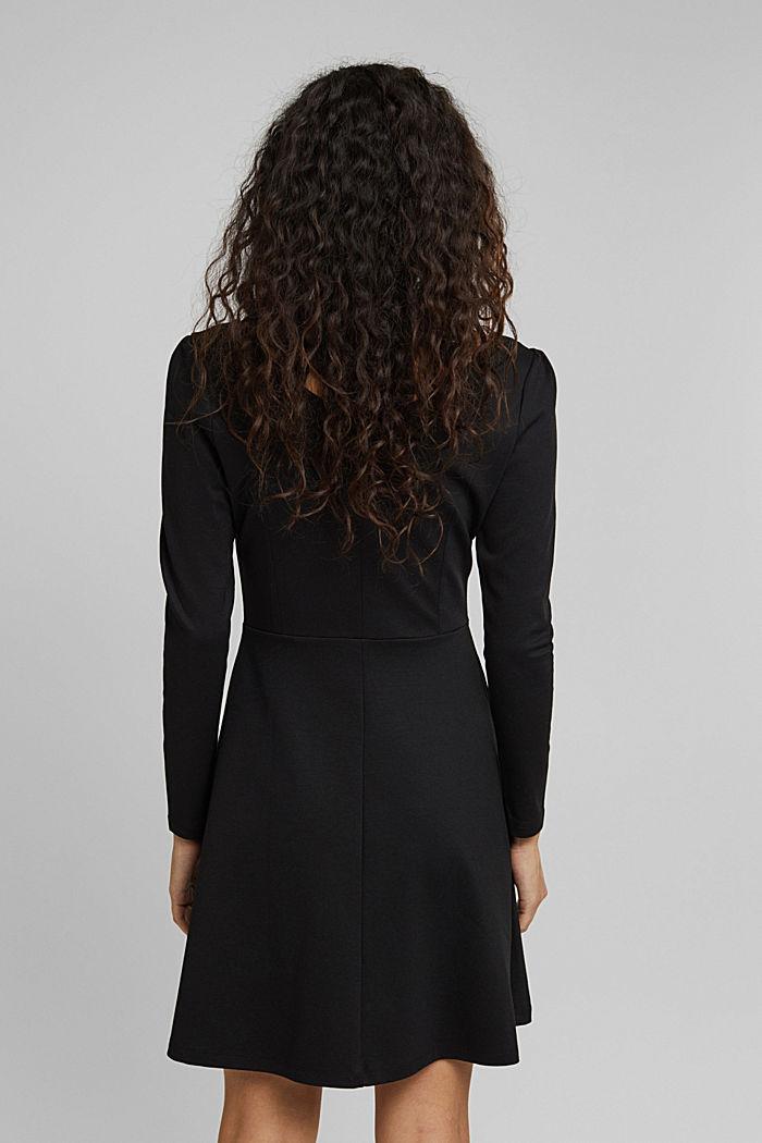 Jersey-Kleid mit  LENZING™ ECOVERO™, BLACK, detail image number 2