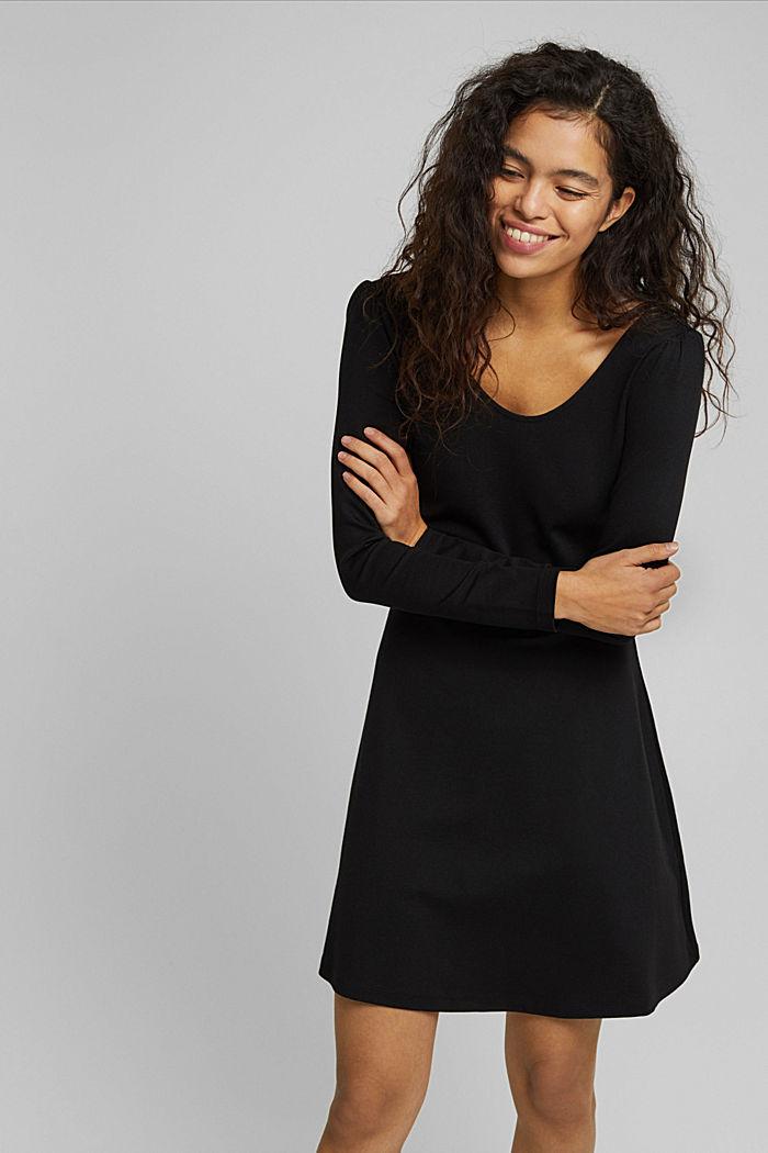 Jersey-Kleid mit  LENZING™ ECOVERO™, BLACK, detail image number 5