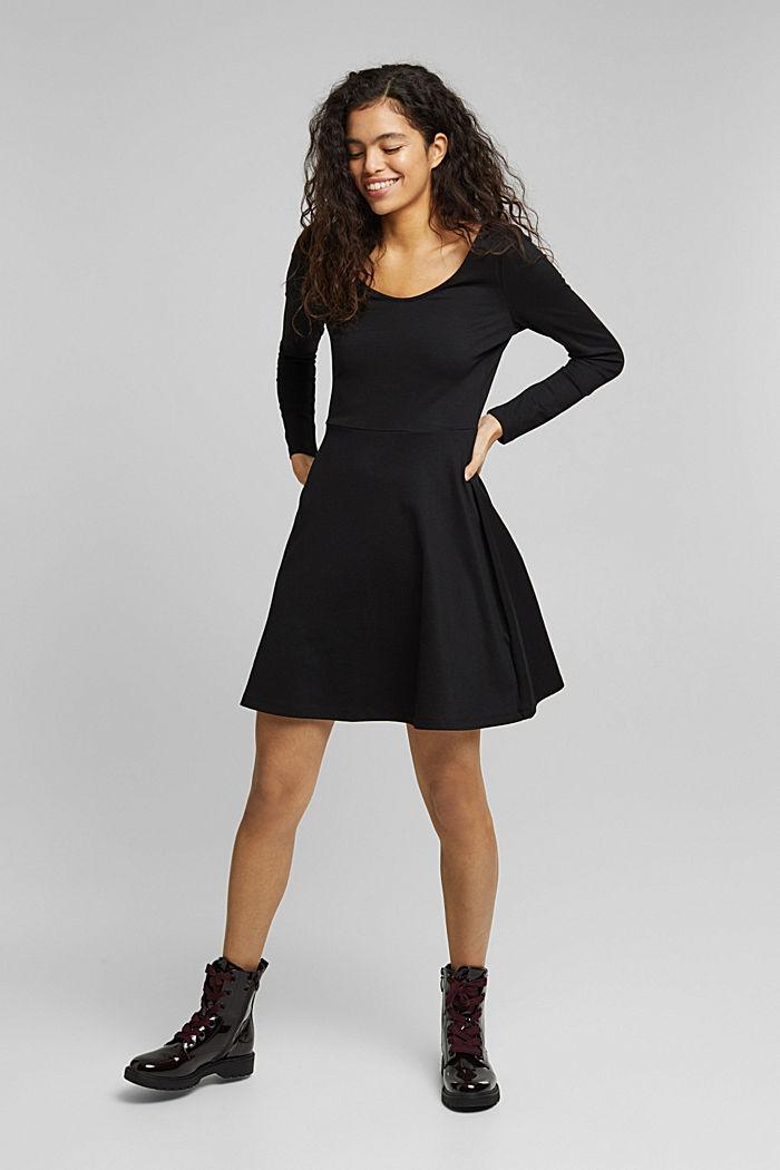 Jersey-Kleid mit  LENZING™ ECOVERO™, BLACK, detail image number 7