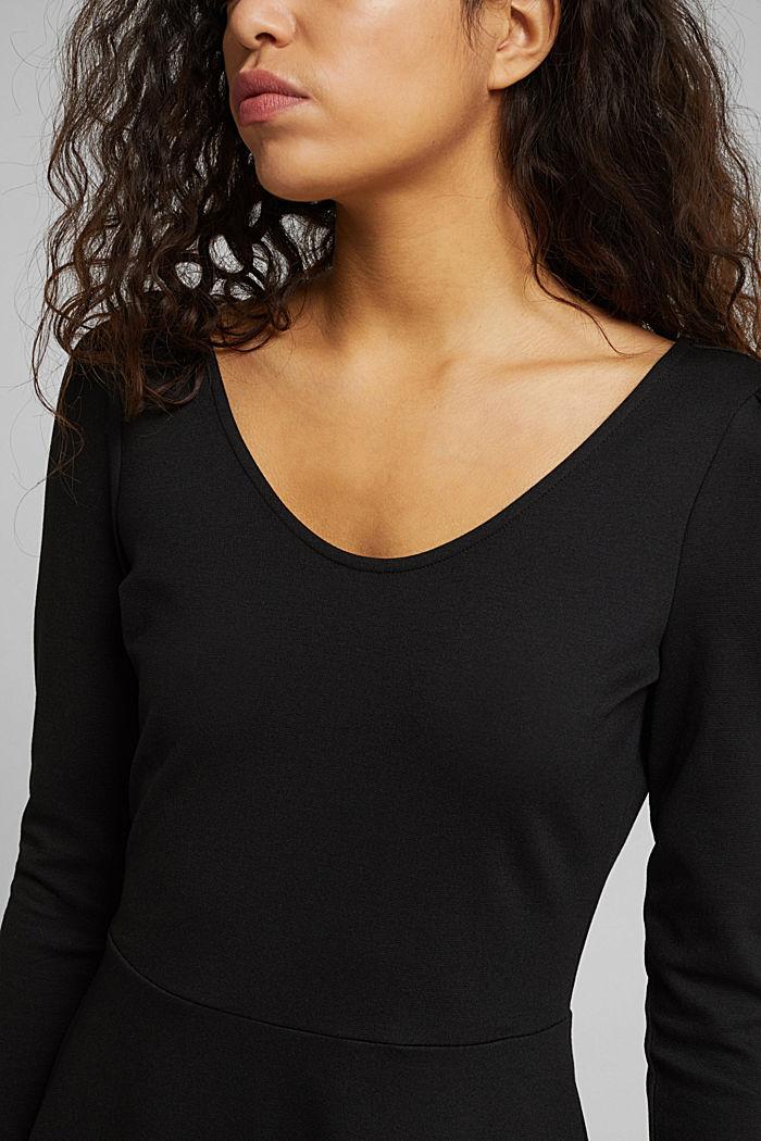Jersey-Kleid mit  LENZING™ ECOVERO™, BLACK, detail image number 3