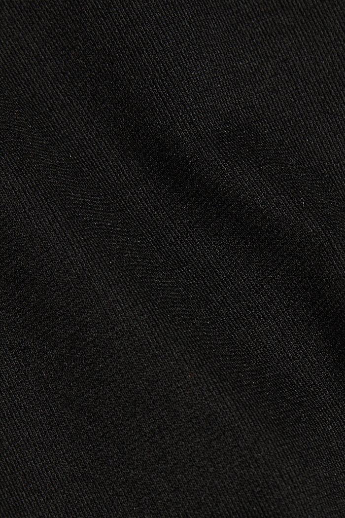 Jersey-Kleid mit  LENZING™ ECOVERO™, BLACK, detail image number 4