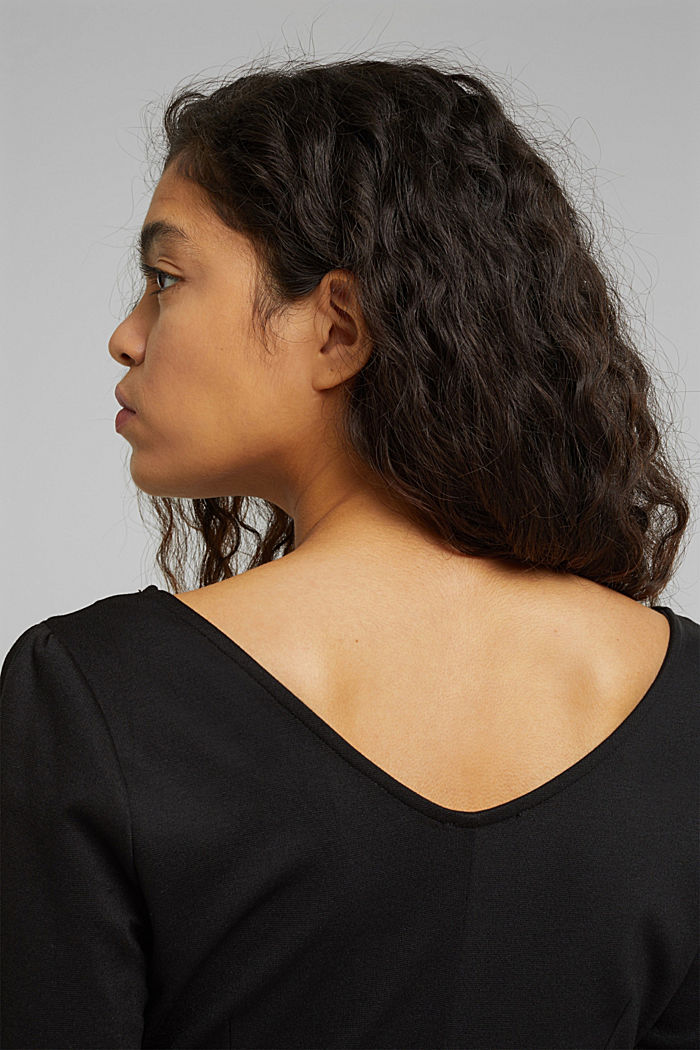 Jersey-Kleid mit  LENZING™ ECOVERO™, BLACK, detail image number 6