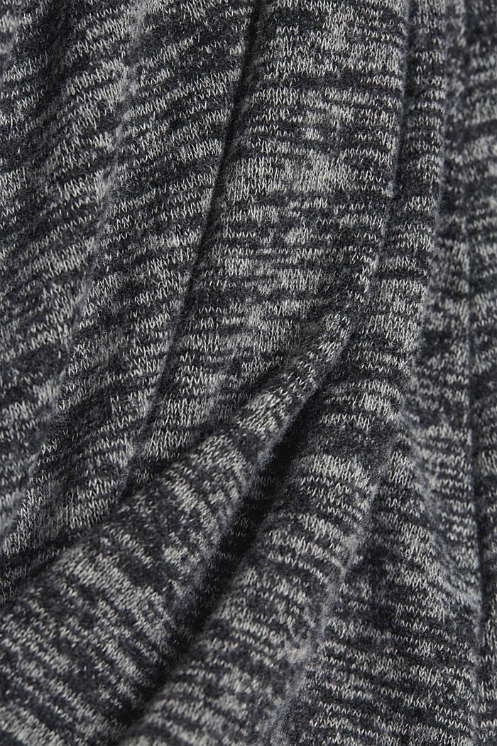 Recycled: melange jersey dress, GUNMETAL, detail image number 4