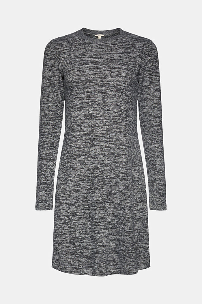 Recycled: melange jersey dress, GUNMETAL, detail image number 5