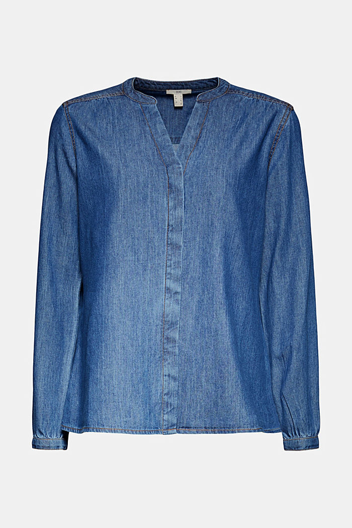 Denim blouse van organic cotton