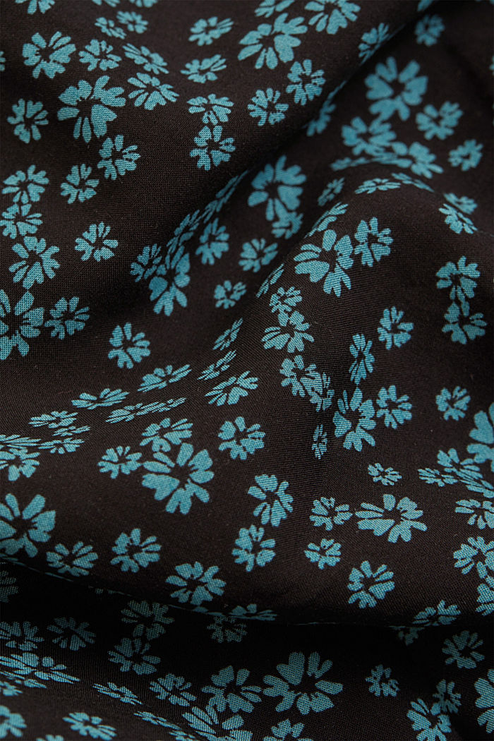 Print blouse with LENZING™ ECOVERO™, BLACK, detail image number 4