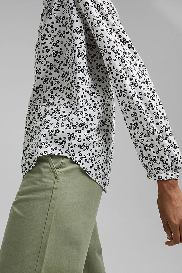 Print blouse with LENZING™ ECOVERO™, OFF WHITE, detail image number 5