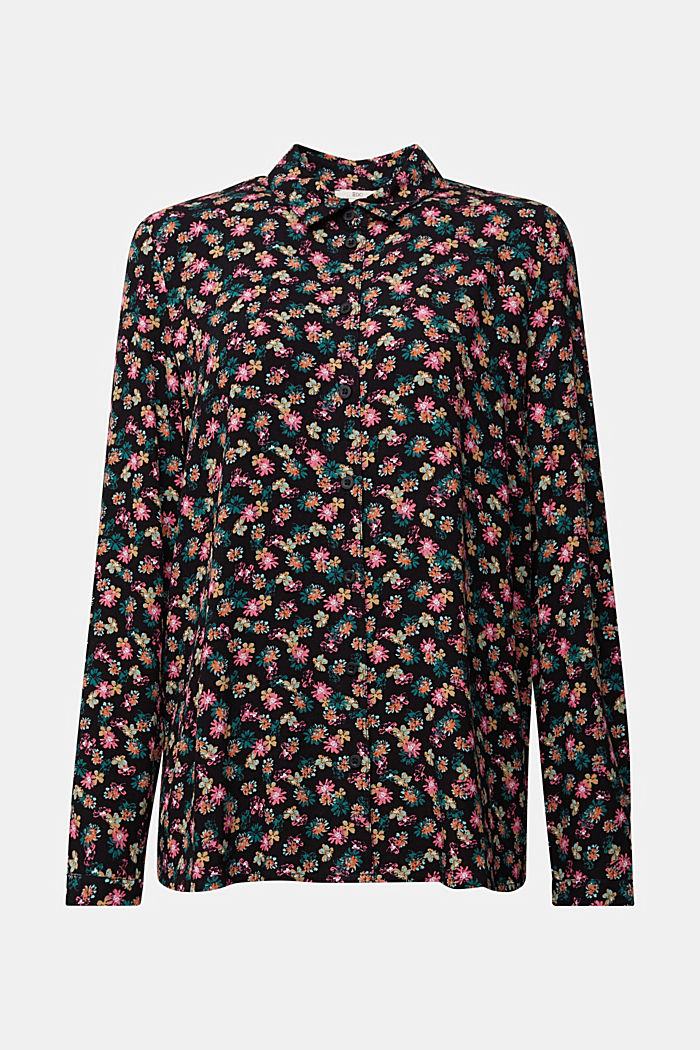 Shirt blouse with floral print