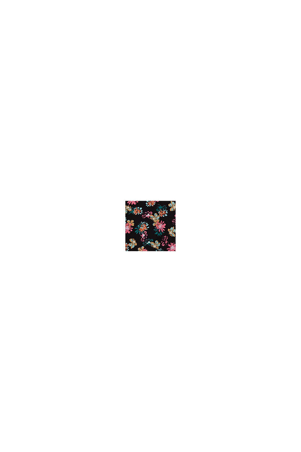Hemdbluse mit Blumen-Print, BLACK, swatch