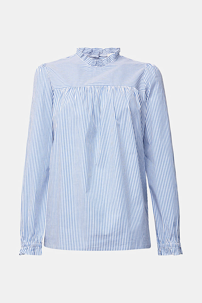 Cotton: blouse with frills