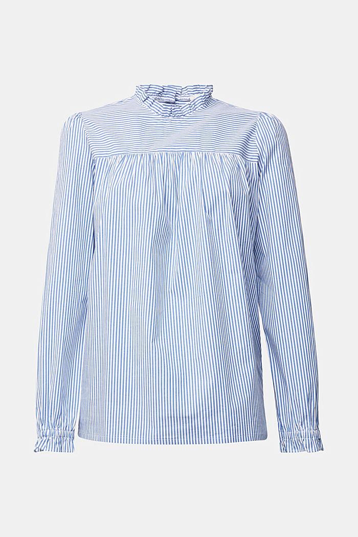 Aus Baumwolle: Bluse mit Rüschen