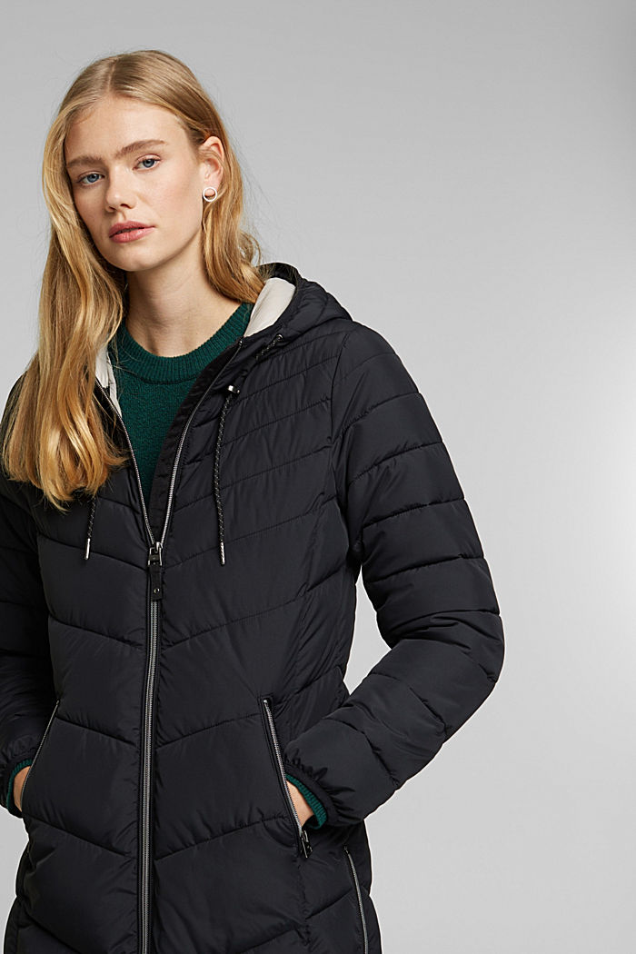 Recycled: Coat with 3M™ Thinsulate™ filling, BLACK, detail image number 6